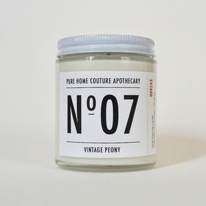 Number Candle-Vintage Peony No.07
