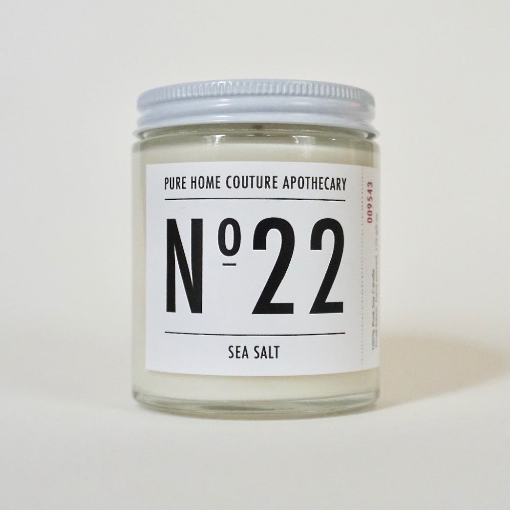 Number Candle-Sea Salt No.22
