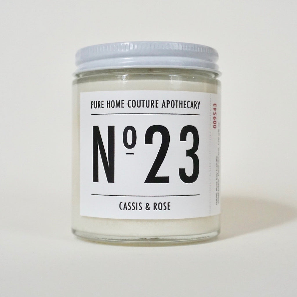 Number Candle-Cassis & Rose No.23