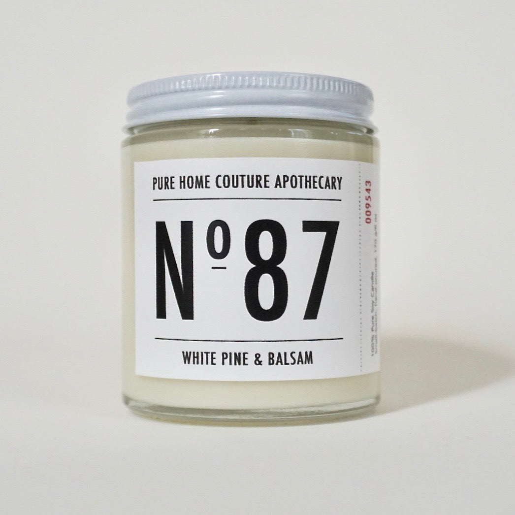 Number Candle-White Pine & Balsam No.87