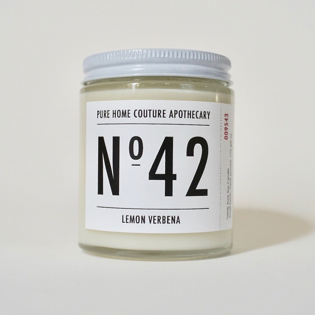 Number Candle-Lemon Verbena No.42