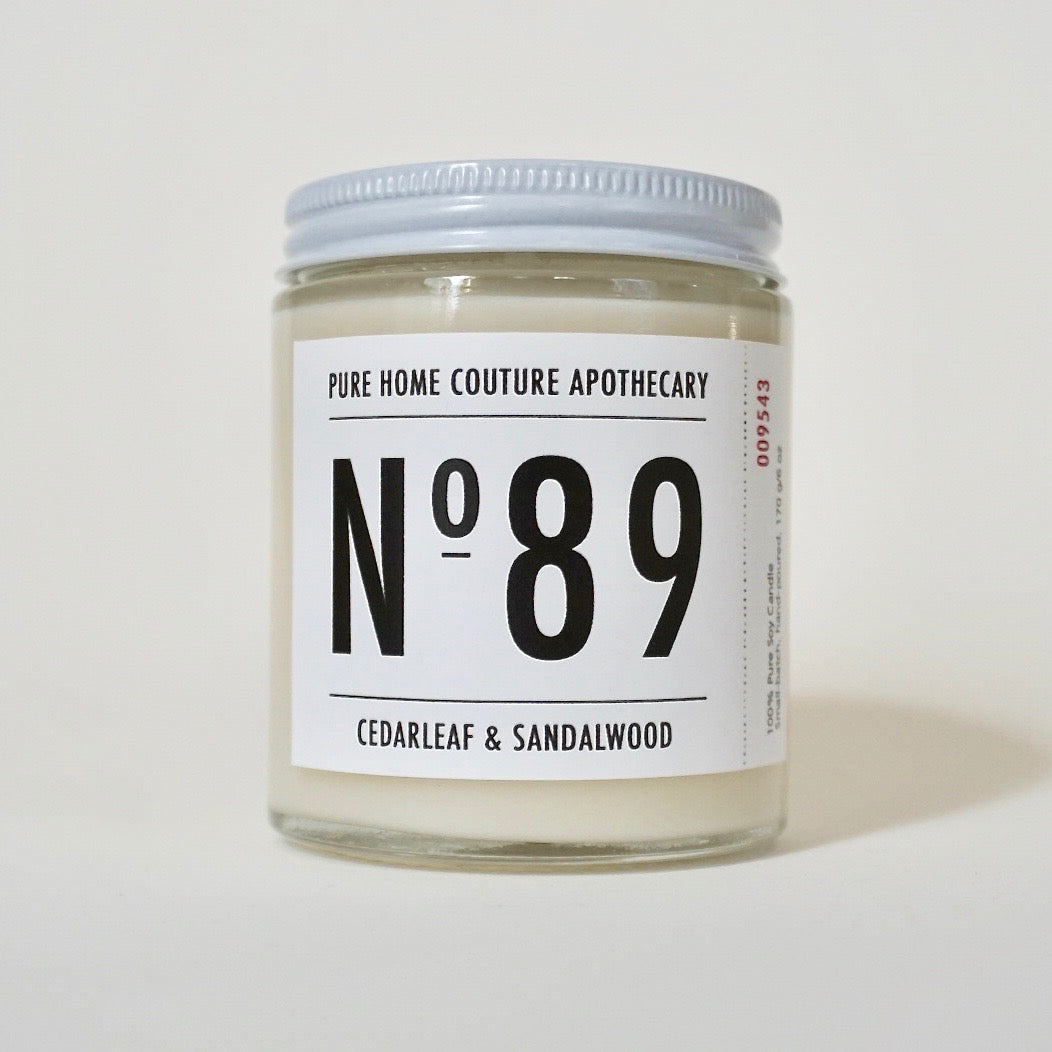 Number Candle-Cedarleaf & Sandalwood No.89
