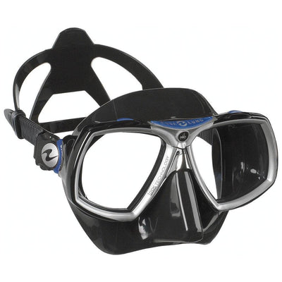 Aqualung Look 2 Dive Mask - Black / Blue - Mike's Dive Store