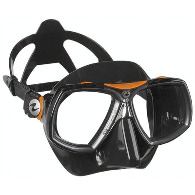 Aqualung Look 2 Dive Mask - Black / Orange - Mike's Dive Store