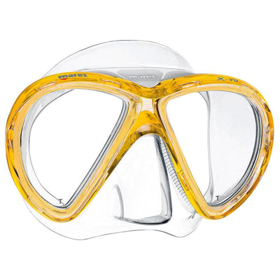 Mares X-Vu Dive Mask - Clear / Yellow - Mike's Dive Store