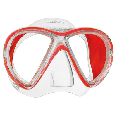 Mares X-Vu LiquidSkin Dive Mask - Red / Clear - Mike's Dive Store
