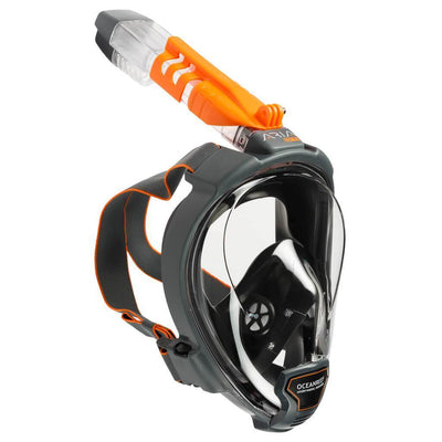 Ocean Reef Aria QR+ Full Face Snorkeling Mask - Black - Mike's Dive Store