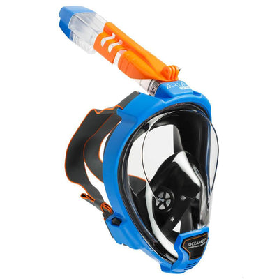 Ocean Reef Aria QR+ Full Face Snorkeling Mask - Blue - Mike's Dive Store
