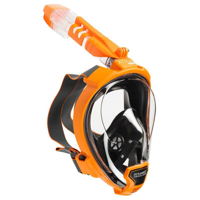 Ocean Reef Aria QR+ Full Face Snorkeling Mask - Orange - Mike's Dive Store