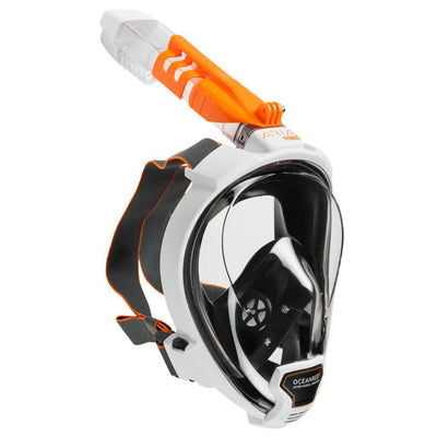 Ocean Reef Aria QR+ Full Face Snorkeling Mask - White - Mike's Dive Store