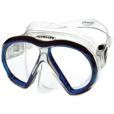 Atomic SubFrame Dive and Snorkel MaskBlue with Clear Skirt - Mike's Dive Store - 1