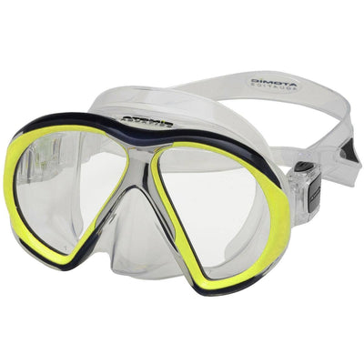 Atomic SubFrame Dive and Snorkel MaskYellow with Clear Skirt - Mike's Dive Store - 3