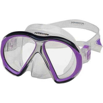 Atomic SubFrame Dive and Snorkel MaskPurple with Clear Skirt - Mike's Dive Store - 5