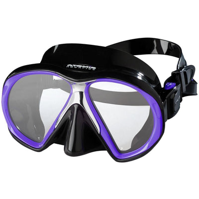 Atomic SubFrame Medium Fit Dive and Snorkel MaskPurple with Black Skirt - Mike's Dive Store - 2