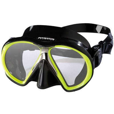 Atomic SubFrame Medium Fit Dive and Snorkel MaskYellow with Black Skirt - Mike's Dive Store - 6