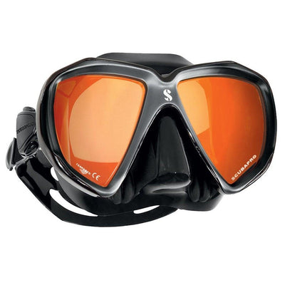 Scubapro Spectra Mask - Silver / Black Silicone - Mirrored Lenses - Mike's Dive Store