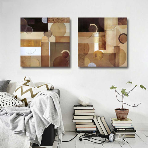 2 Piece Abstract Canvas Art