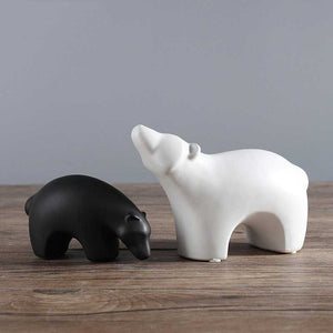 Black/White Ceramic Polar Bear