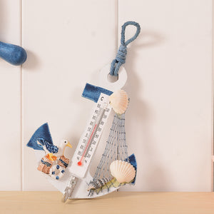Nautical Ship Anchor Wall Hanging Thermometer