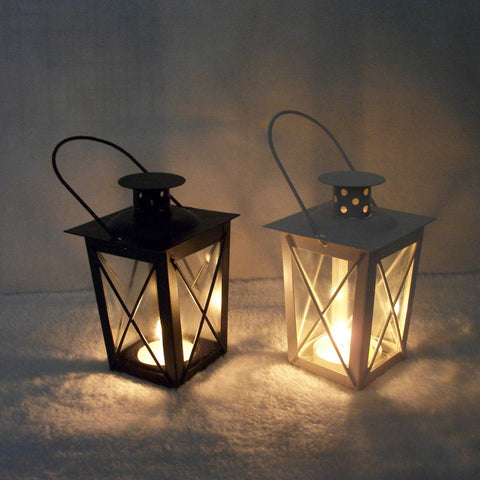 Iron Lantern Tealight Candle Holder