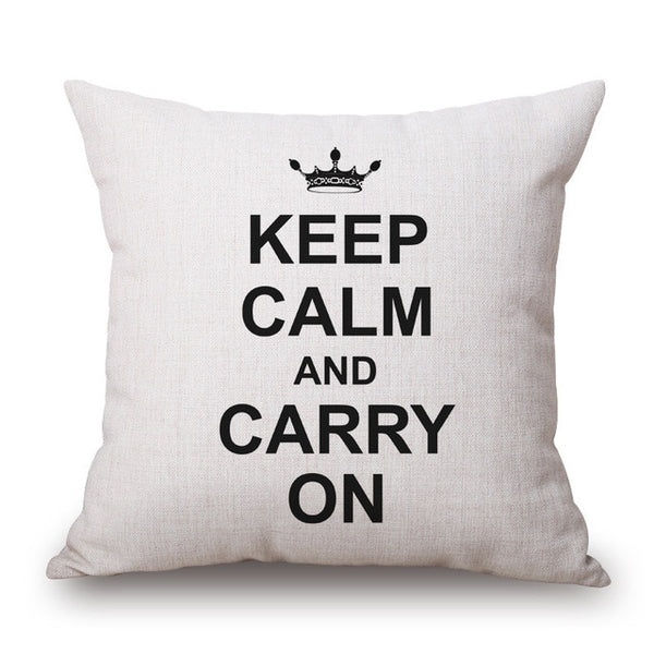 Decorative Text Throw Pillow Cover [6 styles]