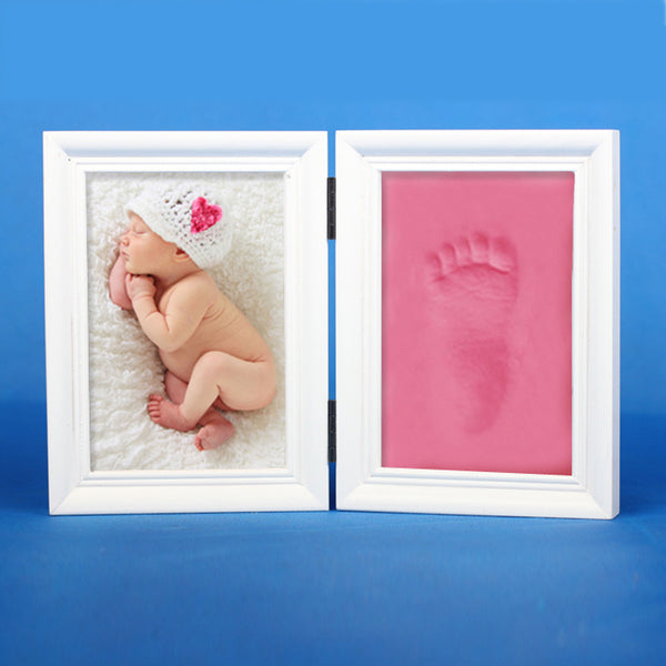 DIY Baby Handprint/Footprint Picture Frame