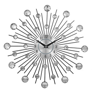 Sunburst Crystal Wall Clock