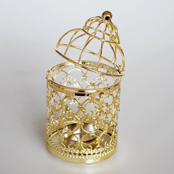 Vintage Metal Cage Candle Holder