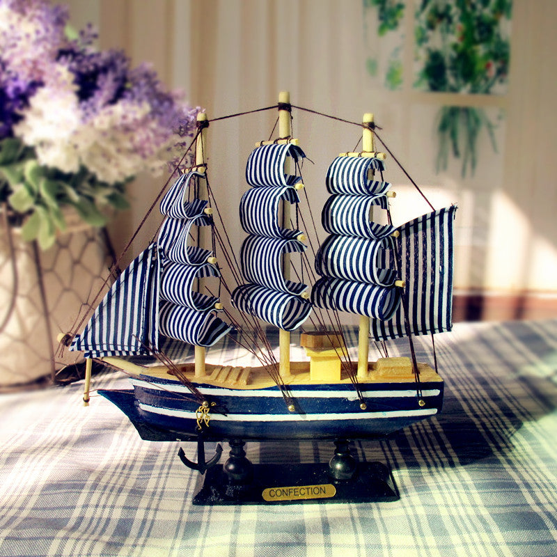 Mediterranean Detailed Wooden Sailing Ship