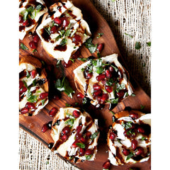 Brie and Pomegranate Crostini