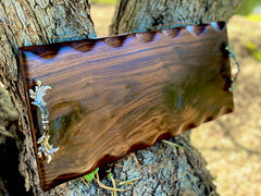 Extra large charcuterie board, cheeseboard, grazing board with Italian hardware/handles