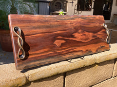"Live edge Charcuterie board  , Great wedding gift, housewarming gift 23"" x 8-10"""