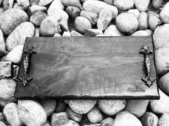 "❤️Live edge charcuterie board, cheese platter, wedding gift18"" x 9"" with handles"