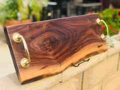 "Beautiful charcuterie board/cheeseboard/serving platter 24"" x 8"" live edge"