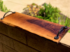 "Walnut Charcuterie Board /Cutting board / wedding/ housewarming/birthday 18"" x 8-11"""