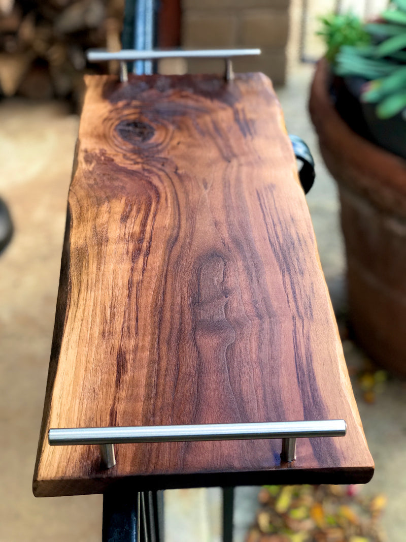 "Charcuterie Board/grazing board/cheeseboard/live edge/24"" x 9 to 11 inches"