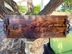 "Large Charcuterie Board Engraved.  Perfect wedding gift, house warming gift 24""8-10"""