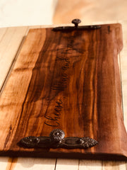 "Extra Large Charcuterie Board 21""x13"" Walnut with handles FREE SHIPPING!"