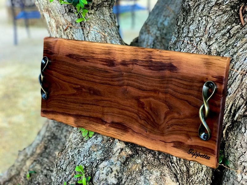 "Live edge Charcuterie board /Cheese board/wedding gift 23"" x 8"""