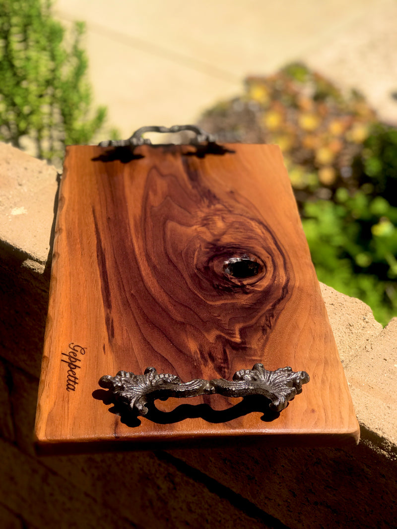 "Walnut Charcuterie Board /Cutting board 18"" x 8-11"" wedding gift, housewarming, birthday"