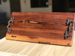 "Extra large Charcuterie Board, Grazing Board, cheeseboard, live edge, candles, 24"" x 10"""