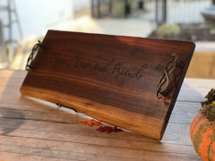 "Charcuterie Board, cheese board grazing board, engravable,  24"" x 10""FREE SHIPPING!"