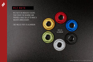 XCELL™ M12 anodized wheel nuts