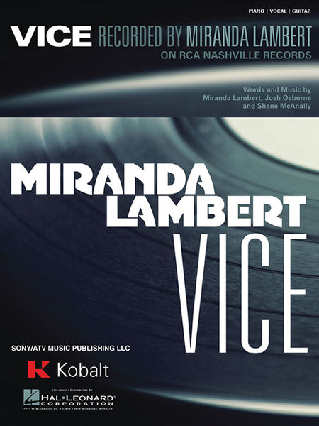 Miranda Lambert Vice Sheet Music Piano Vocal Guitar