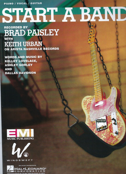 Brad Paisley, Keith Urban Start a Band Sheet Music