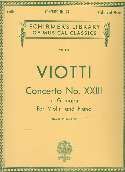 Schirmer Library of Classics Volume 444 Score and Parts