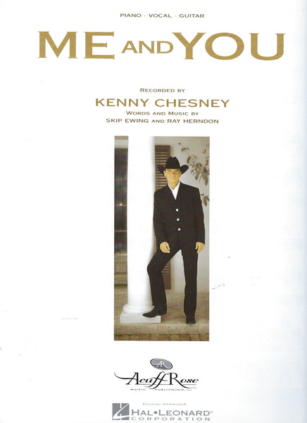 Kenney Chesney Me and You Sheet Music