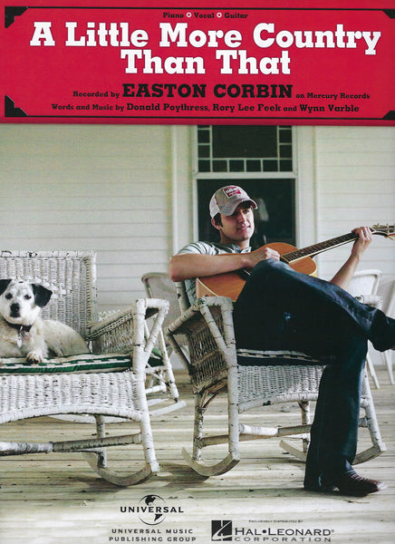 Easton Corbin A Little More Country Than That Sheet Music