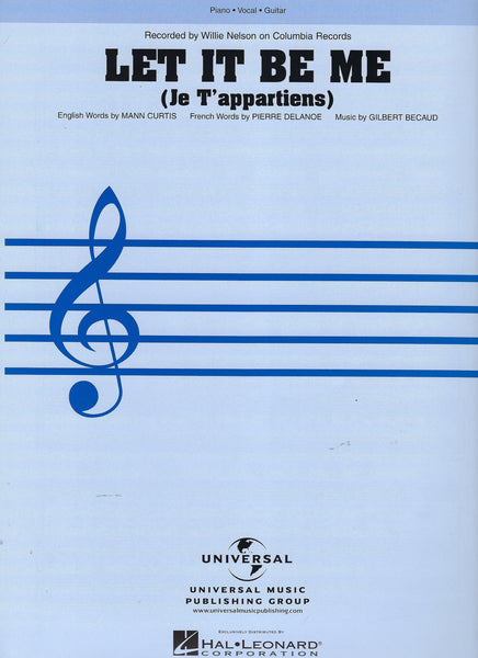 Willie Nelson Let It Be Me Sheet Music