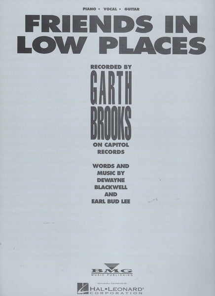Garth Brooks Friends in Low Places Sheet Music